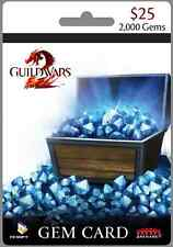 "Guild Wars 2, Gems 2000 Card - PC ""5 keys VALUE PAK"" (Ebay message delivery)"