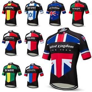 Countries Team Cycling Jersey 2021 Men's Short Sleeve Bike Jersey Shirt S-5XL
