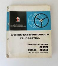 IHC  Werkstatthandbuch Fahrgestell 323 353 423 Weinbergversion 1968 Original