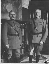 "French Army Marshal Foch US Army General Pershing  World War 1, 5x4"" Reprint a"