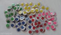 PLAIN Wiggly Wobbly googly Eyes Coloured Craft embellishements New