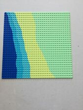 LEGO LIGHT GREEN WITH BLUE YELLOW PARADISA ISLAND PATTERN BASEPLATE 32x32 10x10