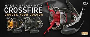Daiwa Crossfire Limited Edition Reel - 2500 3000 or 4000 Sizes
