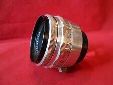 Lens CARL ZEISS JENA Objektiv TESSAR 2.8/50 red T 50mm 1:2.8 / PRAKTINA Bajonett