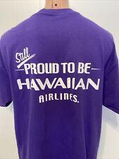Hawaiian Airlines Hawaii Airplane Aviation Aloha Purple XL X-Large T-Shirt