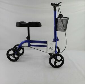 RINKMO All-Terrain Steerable and Foldable Knee Scooter (Blue)