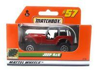 Matchbox MBX Superfast 1999 No 57 Jeep 4x4 burgundy german exclusiv model