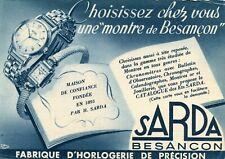 BESANCON Carte Pub Fabrique d'Horlogerie de Précision SARDA
