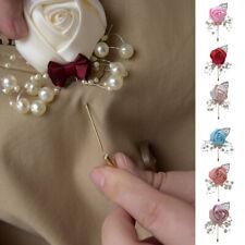 1Pc Bride Bridesmaid Artificial Corsage Pearl Flower Brooch Boutonniere Wedding