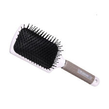 salon hair styling brush cushion massage comb rubber handle