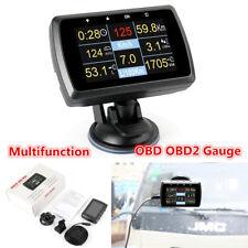 Multifunction Car On-board OBD OBD2 Gauge Driving Computer Speed Meter w/ Holder