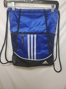 Adidas Blk/Blue Cinch Sack Drawstring Backpack