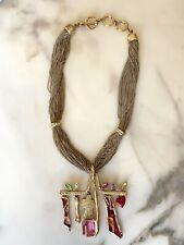 Collier baroque CHRISTIAN LACROIX amulette Vintage
