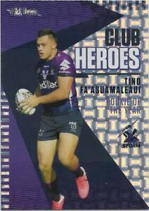2021 Nrl Traders Club Heroes PRIORITY (CH14) Tino FA'ASUAMALEAUI Storm 15/23