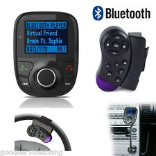 Car Wireless Bluetooth FM Transmitter MP3 Player USB SD LCD Remote Handsfree BG