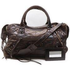 BALENCIAGA Hand Bag The PartTime 168028 Dark Brown Leather 1414414