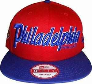 Philadelphia Phillies New Era 9Fifty Snapback Cap Hat Snapitback Red/Blue M/L
