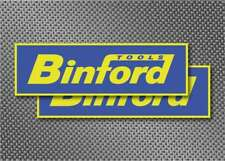 "2x Binford Tools 8"" Blue Sticker Decals Car Window Home Improvement aufkleber"