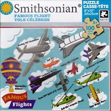 "Jigsaw Puzzle SMITHSONIAN SERIES - FAMOUS FLIGHTS Learning 100 Pcs 8"" x 10"""