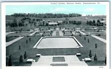 Elizabethtown, Pennsylvania Pa Masonic Homes Formal Garden c1920s Postcard