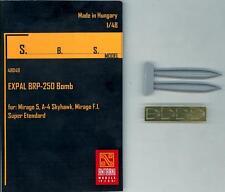 SBS Models 1/48 EXPAL BRP-250 BOMB for Jet Fighter Resin & Photo Etch Set