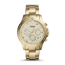 Fossil Men's Crewmaster Sport Chronograph Gold-Tone Stainless Steel Watch CH3061