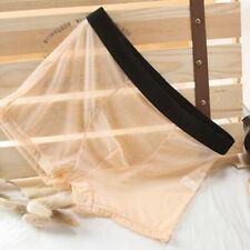 Men Sexy Seamless Boxers Underwear Briefs Ultra-thin Transparent Boxershorts