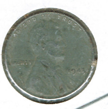 1943 Philadelphia Circulated Business Strike Copper One Cent Coin!