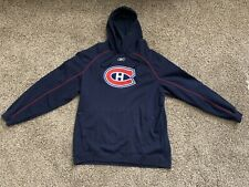 RARE Authentic Reebok Montreal Canadiens Centennial Hoodie Sweatshirt Jersey XXL