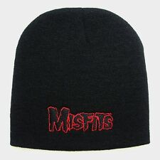 MISFITS embroidery Beanie hat  (red logo) official   Music Band .