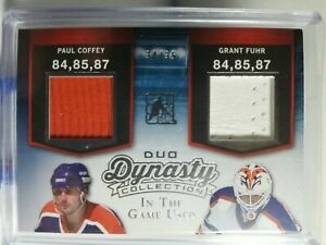 2014-15 ITG Used Dynasty Collection DUO Paul Coffey Grant Fuhr 34/35 sick pad 🔥