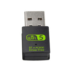 Wireless USB Bluetooth Adapter 600Mbps USB WiFi Adapter Receiver Network Card