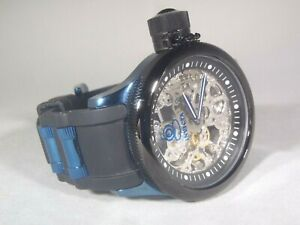 Invicta Men's 52mm Russian Diver Mechanical Blue Black Skeleton Watch 17268 RARE