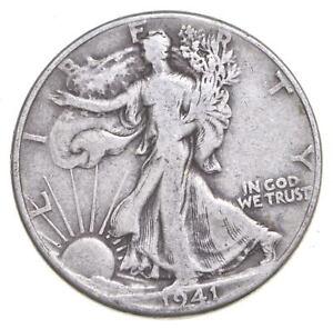 1941 Walking Liberty 90% Silver US Half Dollar *260