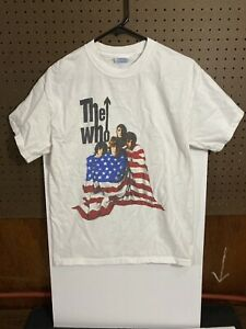 M&O Knits THE WHO 2002 Concert Tour T-Shirt - White - Size Medium FREE SHIPPING!