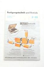 alte Rivista Tecnologia di produzione e Utilizzo 02 1988 Misura diagnostica