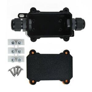 2-Way Schwarz Elektro Junction Box Kabel Draht Verbinder IP68 Equipment Tool Set