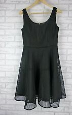 BRONX and BANCO Dress Sz 12 Black  Exposed Gold Zip Wedding, Cocktail, Event