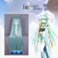 """Fate/Zore Full Hair Kiyohime Long Straight Light Green Cosplay Costume Wig 41.3"""""""