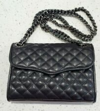 NEW Rebecca Minkoff Mini Affair BLACK Quilted Leather Crossbody Bag