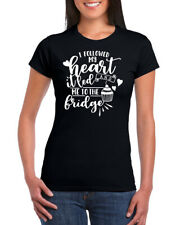 I Followed My Heart And It Led To The Fridge Cotton Womens Crew Neck T-shirt