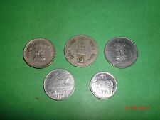 - INDIA - 5  COINS  - RUPEES  5,2,1, 50 PAISE & 25 PAISE - YEAR: 1996 # 5AM