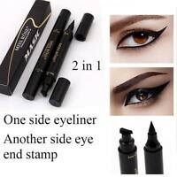 Winged Eyeliner Stamp Waterproof Makeup Cosmetic Eye Liner Black Liquid b15