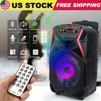 Portable Party Bluetooth Speaker Rechargeable Heavy Bass Stereo USB/TF/FM/Card