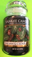 Yankee Candle BALSAM & CEDAR Large Jar One Wick 22 oz Candle
