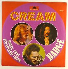 "7"" Single - Cream  - Badge - S1245 - washed & cleaned"