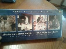Norman Rockwell The Four Freedoms 750Pc Panoramic Puzzle Mint In Sealed Box