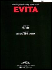 """SELECTIONS FROM """"EVITA"""" FLUTE MUSIC BOOK-ANDREW LLOYD WEBBER-BRAND NEW ON SALE!!"""