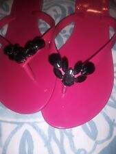 Melissa X Jason Wu Collab Pink Jelly  Sandals  Beads  Sz 8