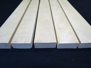"*Premium* Holly American lumber white wood * 5 PCS * 1"" x 4-5""W x 20-32""L - KD!"